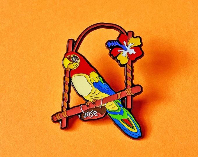 Tiki Parrot Pin