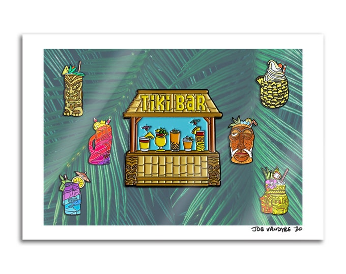 Tiki Bar 13x19 Print