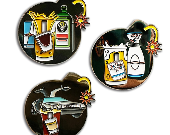 Drink Bombs Pin Set