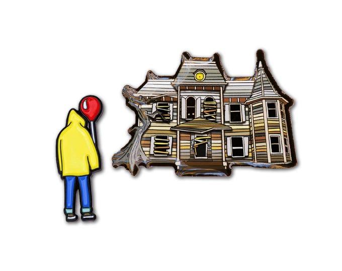 Derry House & Boy Pin Set