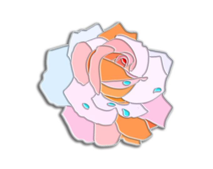 White Rose Pin