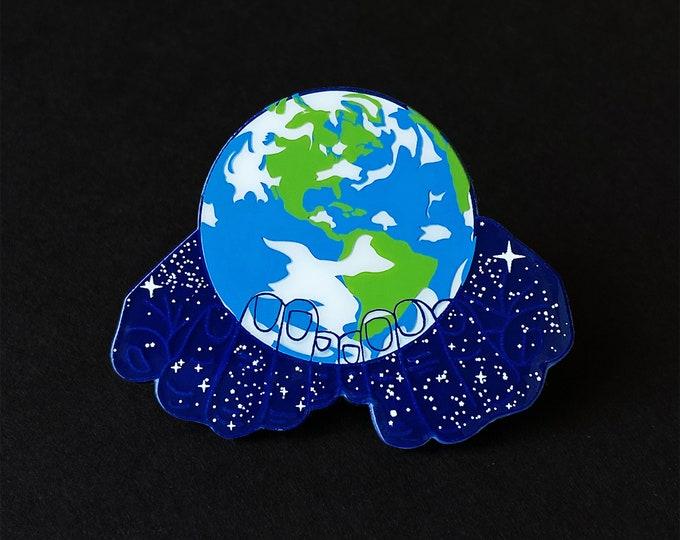 Earth Hands Pin