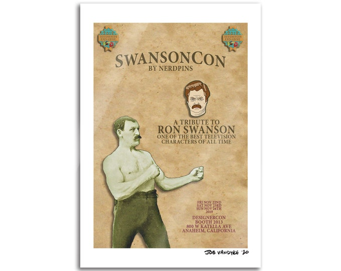 SwansonCon 19x13 Print
