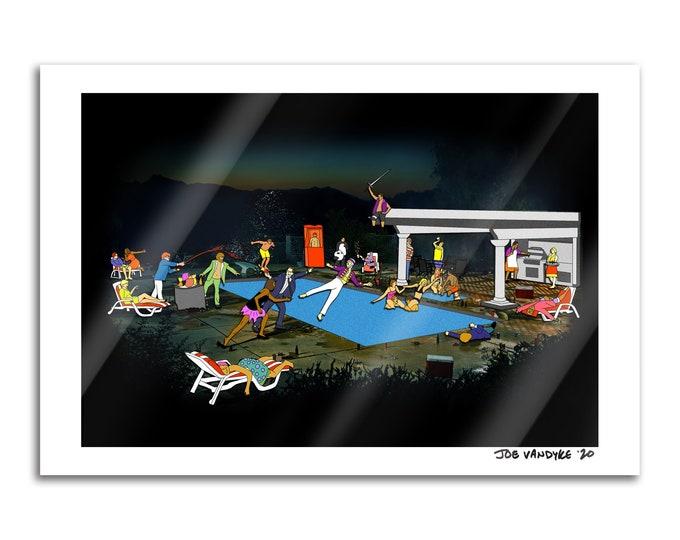 Waldo Pool Party 13x19 Print