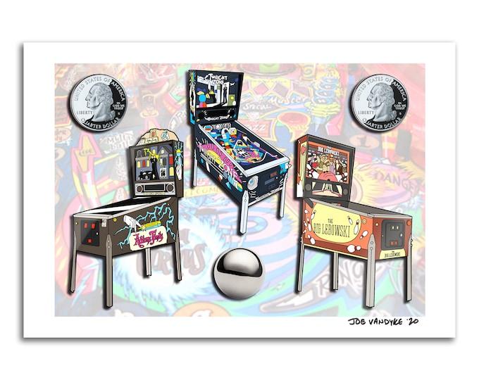 Pinball 13x19 Print