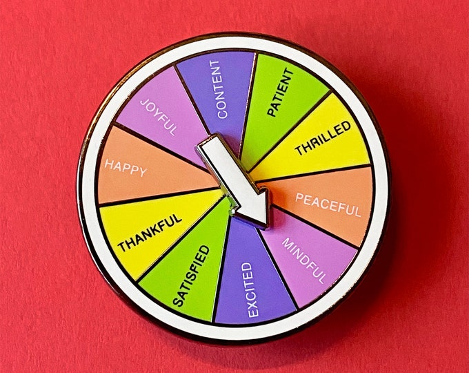Mindfulness Wheel Pin [Spins!]
