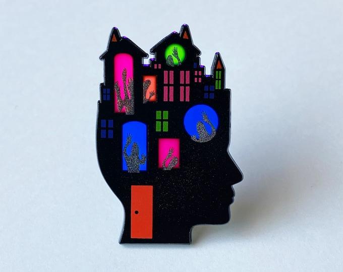 Haunted Head Pin [Translucent!]