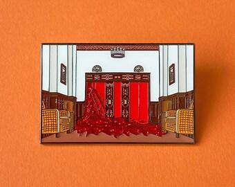 The Shining Enamel Pin Grady Twins Pin Halloween Horror Movie Lapel Pin Retro