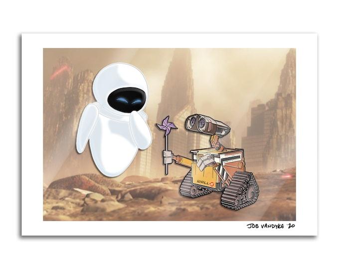 WALL-E & EVE 13x19 Print