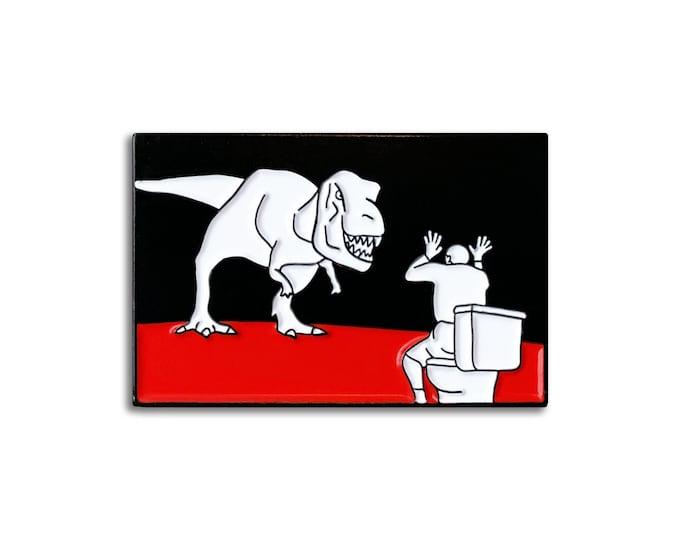 Dino Toilet Pin
