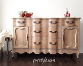 AVAILABLE-FRENCH PROVINCIAL Sideboard Buffet In Natural Wood -Free Delivery in Ottawa and Gatineau