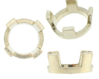 14K White Gold Round 4 Prong Peg Head Setting Standard Style For Center Stone