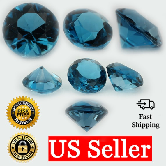 1.75 MM ROUND CUT BLUE ZIRCON ALL NATURAL AAA 2 PC SET