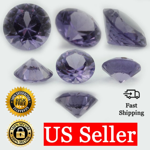 Alexandrite 6x4mm Oval Cabochon Cut Loose CZ Stones Color Change Gemstones