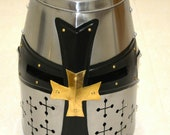 Medieval Templar Knight Crusader Helmet Armor