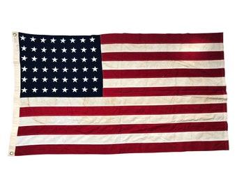 48 Star Flag, Vintage Star Flag - American Flag Cotton Bunting