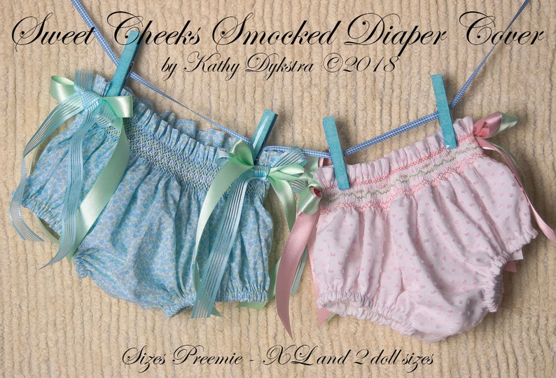 Sweet Cheeks Smocked Diaper Cover Pattern