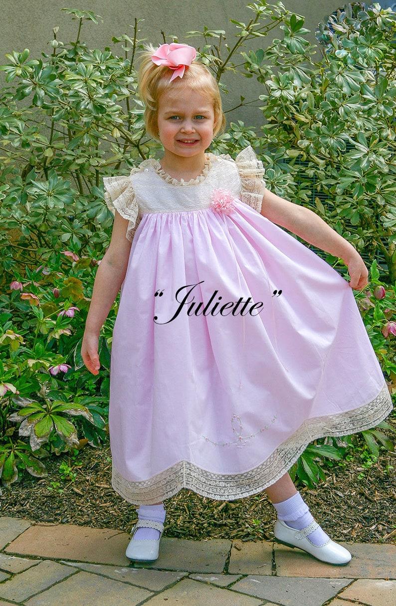 Juliette  heirloom portrait dress & slip pattern sizes 2  6 image 0