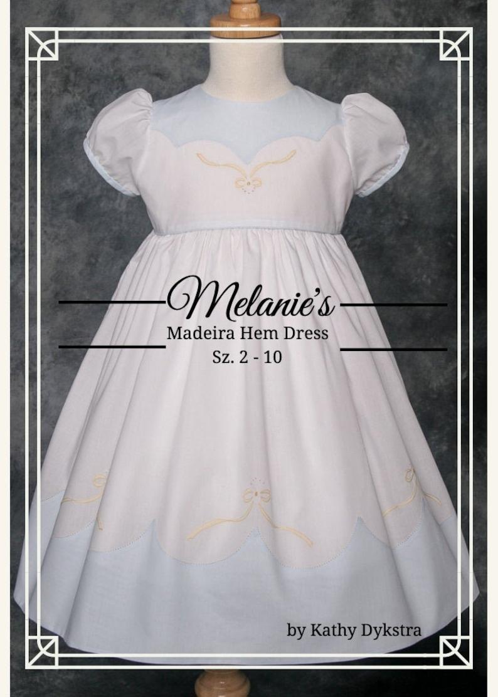 Melanie's Madeira Hem Dress PDF Pattern sz. 2  10 image 0