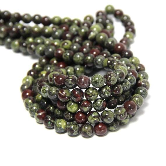 4mm 6mm 8mm 10mm Grade A Natural Map Jasper Semi-precious Gemstone Round Beads