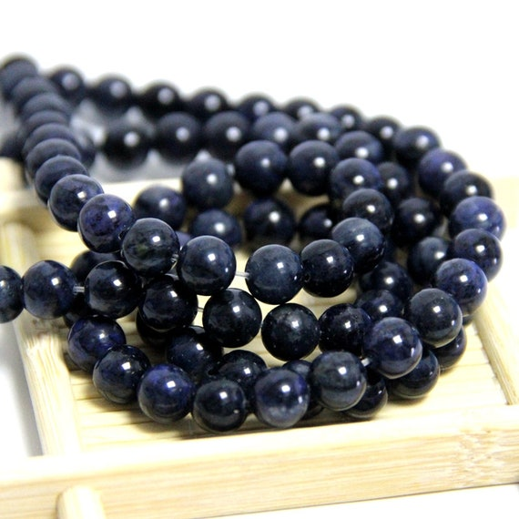 "New 6//8//10mm Dark Blue Lapis Lazuli Round Beads Gems Bracelet 7.5/"" Elasticity"