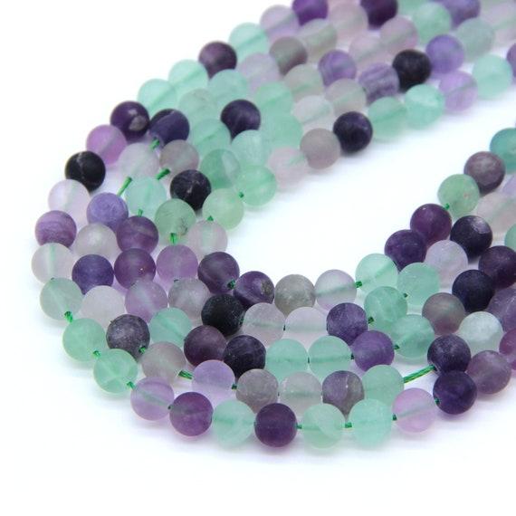 Handmade 10mm Natural Multicolor Fluorite Round Gemstone Beads Necklace 18/'/'