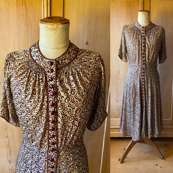 SOLD on layaway. 1930s adaption vionnet rayon jers