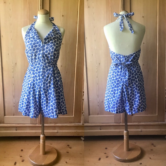 1940s novelty print romper/playsuit