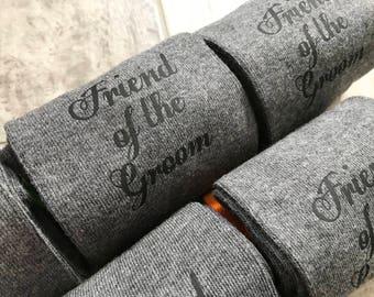 Friend of the groom, groom socks, groomsmen socks, novelty socks,groom gift, gray socks, grey socks,bestman socks,father of the bride socks