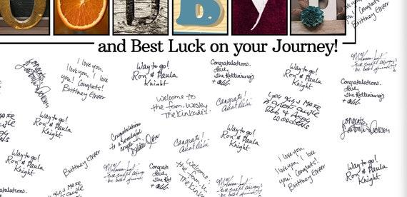 Goodbye Guestbook Alternative, Farewell Card, Gift for teacher, Gift for  Professor