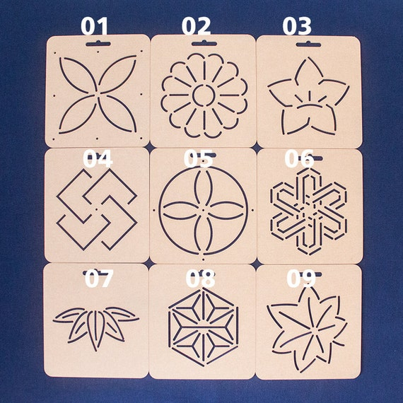Plantilla de Sashiko a Sashiko acrílico bordado del patrón