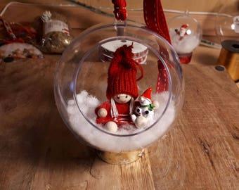 Boule de Noel transparente (fait main)