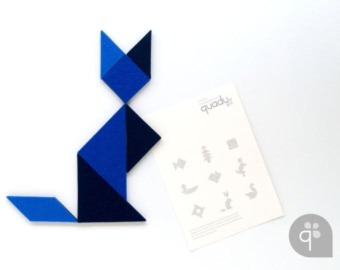 quadu Tangram Magnet Set