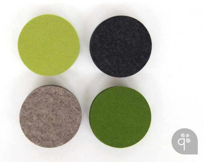 quadu felt coaster set of 4 - round