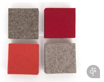 Quadu felt Coaster 4-set – square