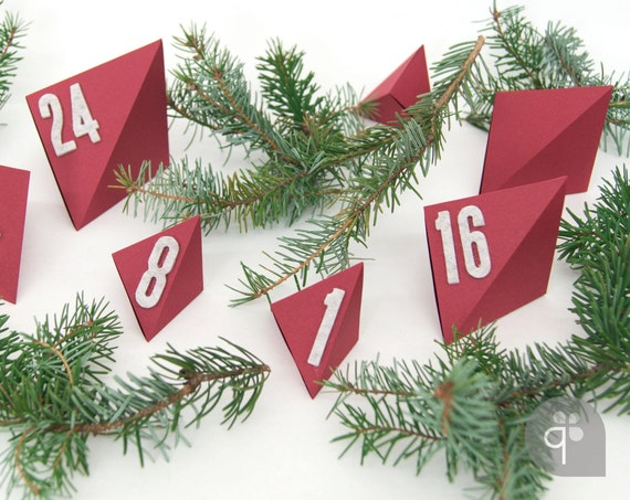Square Advent Calendar Numbers – self-adhesive