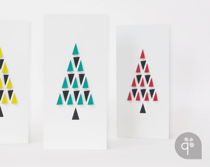 quadu 3D Christmas card - ivory