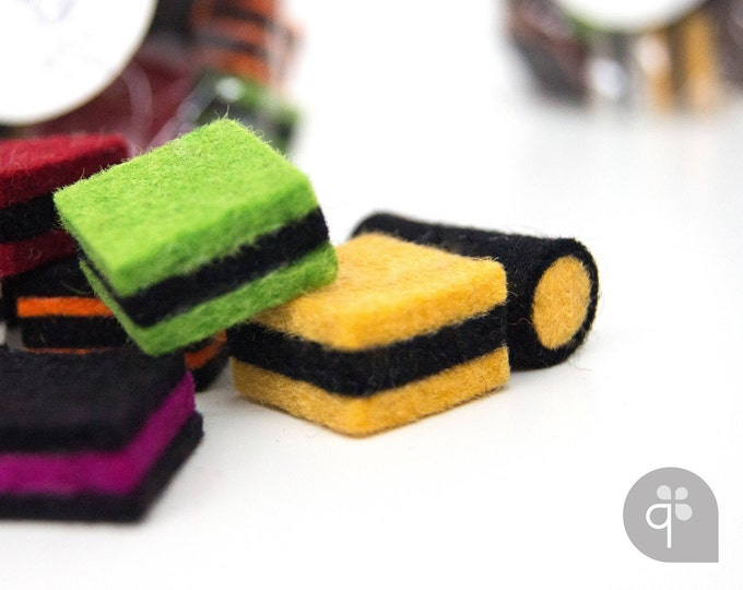 quadu licorice made of felt