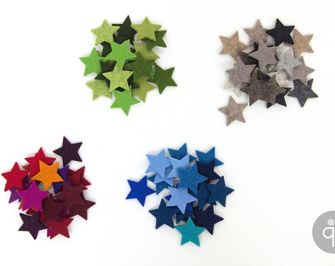 quadu 20 colorful felt stars