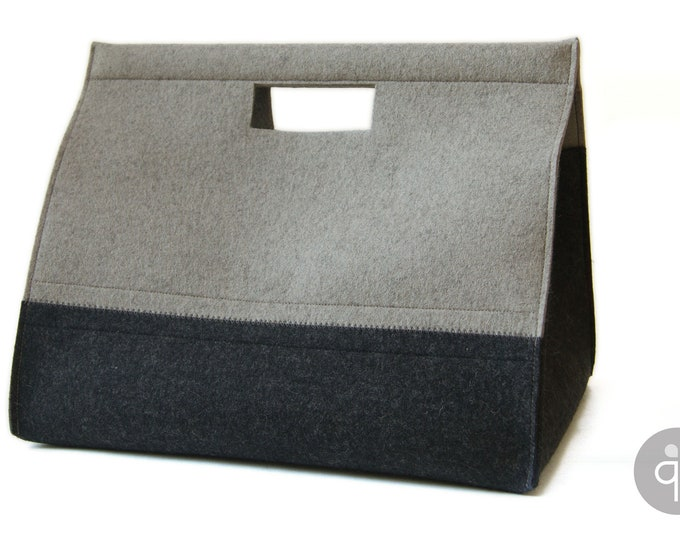 quadu XXL felt basket / large wool basket with magnetic closure