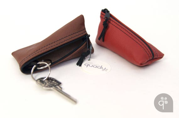 quadu upcycling key case/key case brown