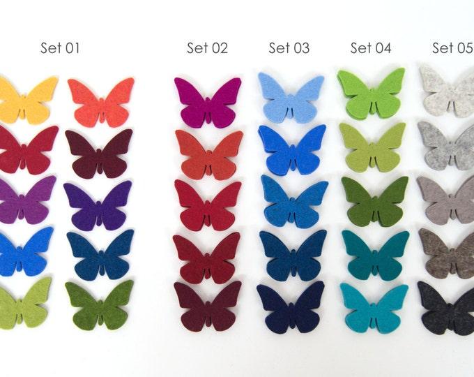 quadu 10 butterflies - wool felt - in many colours