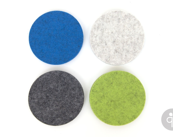 quadu felt coaster set of 4