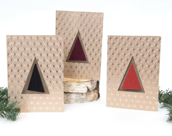 quadu Christmas card - tree - rosegold