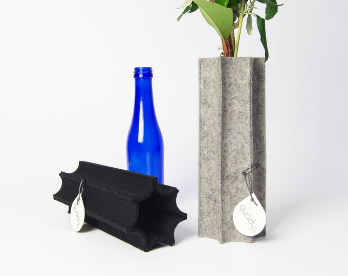quadu felt vase - cover - bottle vase
