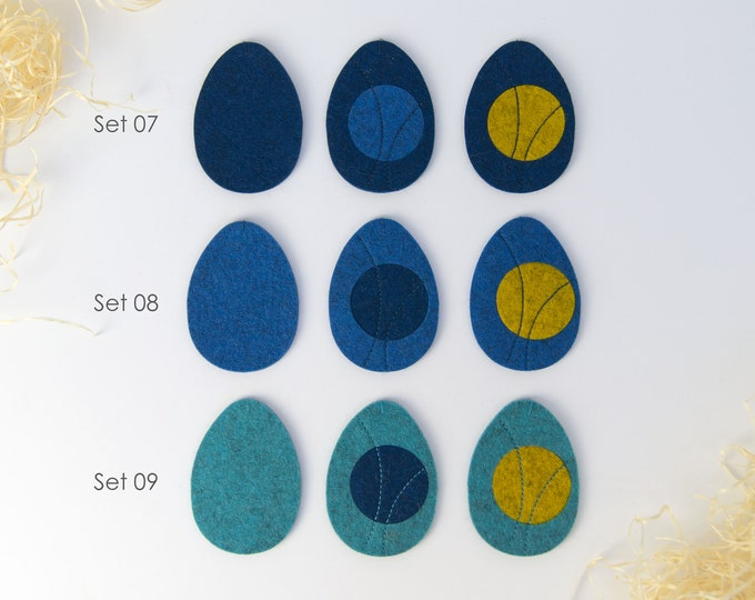 Quadu Easter eggs 3 Set-Decoration-Pendant-Shades of Blue
