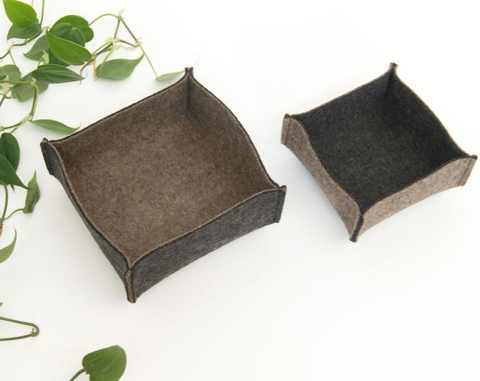 quadu felt bowl - set of 2 - doubleface/two-coloured