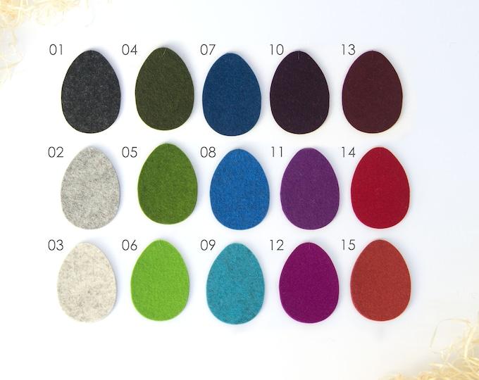 quadu 5 Ostereier einfarbig - Dekoration - Anhänger