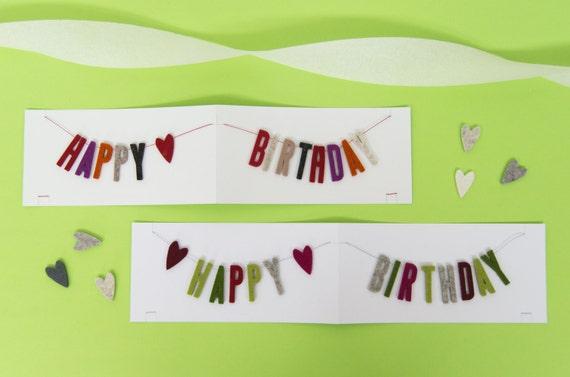 quadu Birthday Card - Happy Birthday - Garland