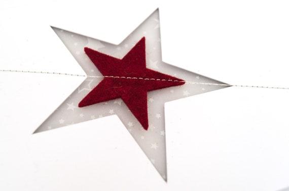 Quadu Christmas Card – A6 Star – White